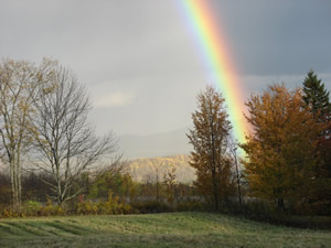 Rainbow in the western mountains of Maine